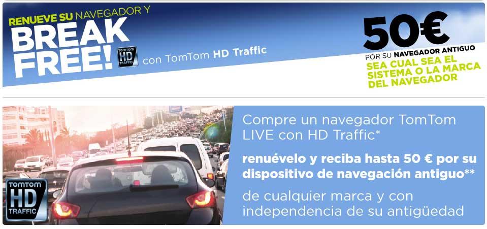 TomTom te devuelve 50 euros al comprar sus dispositivos TomTom GO LIVE 1000 o 1005