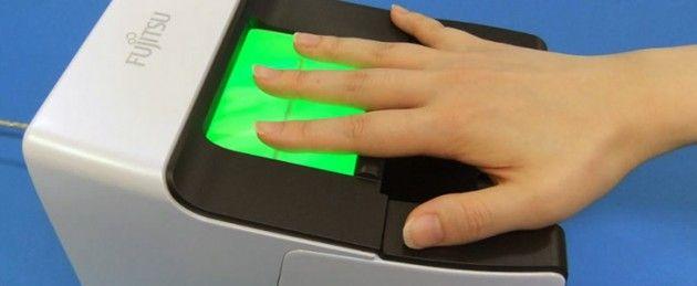 Fujitsu escáner huellas venas