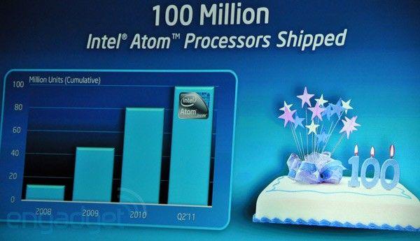 Intel Atom cumple 3 años: 100 millones de micros vendidos