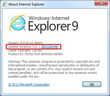 Actualización crítica para Internet Explorer, llega IE 9.0.1