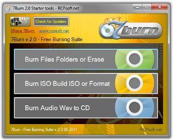 7Burn, aplicación de grabación portable y gratuita 31