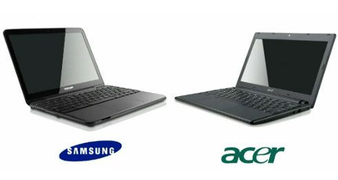 Chromebooks Samsung y Acer a la venta