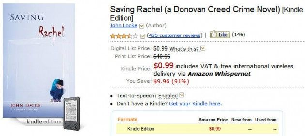 Primer autor independiente en vender un millón de e-books