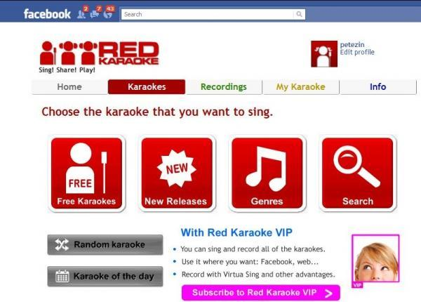 Red Karaoke llega a Facebook