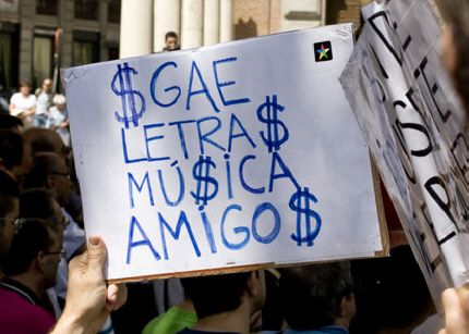 Voracidad implacable de la SGAE, cobra por un concierto a beneficio de Lorca