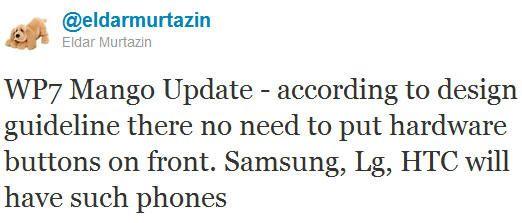 Windows Phone también prescindirá de la botonera física