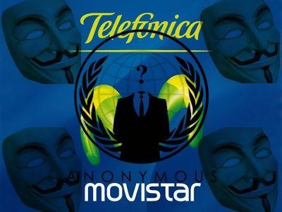 Anonymous atacará las webs españolas de Telefónica y Movistar mañana