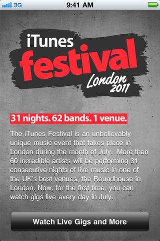Disfruta de conciertos gratis todo el mes de julio: iTunes Festival 2011