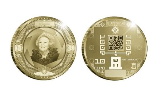 Monedas conmemorativas holandesas integran QR Code