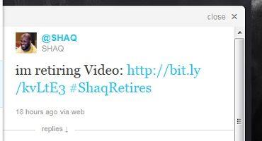 Twitter como medio de información oficial: Shaquille O'Neil se retira