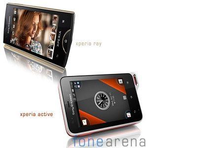Ray y Active, los nuevos Xperia de Sony Ericsson