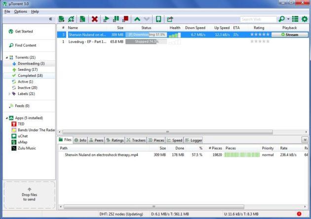 uTorrent 3.0 llega con streaming mientras descargas