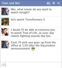 Facebook chat grupo