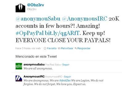 Anonymous y LulzSec llaman al boicot de PayPal 30