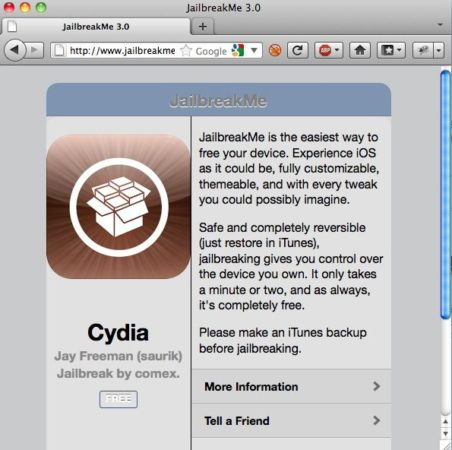 Guía oficial Jailbreak iPad 2, iPad, iPhone y iPod touch con JailbreakMe 3.0 29