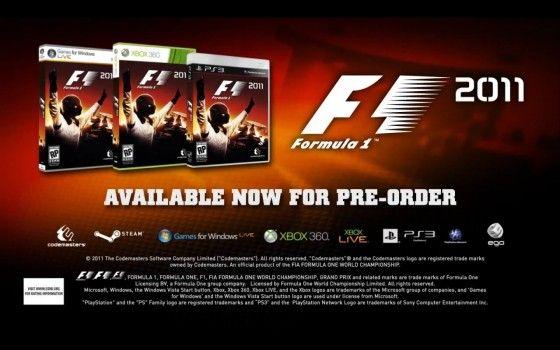 F1 2011, primer tráiler del juego de Codemasters