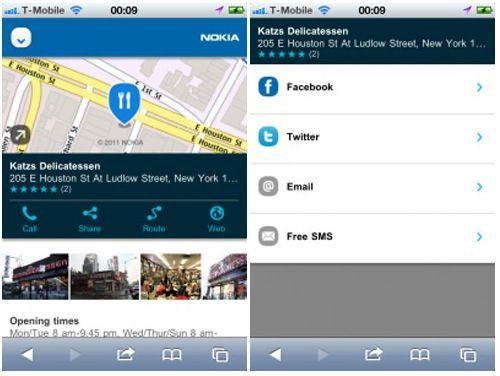 Nokia Maps disponible en versión web HTML5 para Android e iOS