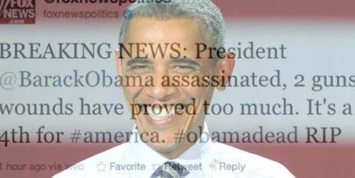 La Fox anuncia vía Twitter la muerte de Obama