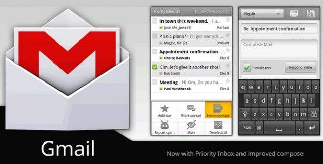 Google mejora el Gmail para Android con la versión 2.3.5