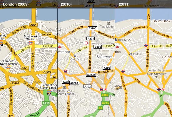 Google Maps recibe un lavado de cara, mapas más sencillos y claros