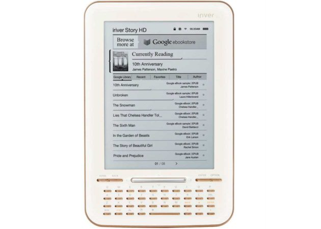 Lee tus Google Books en un lector de e-books oficialmente soportado