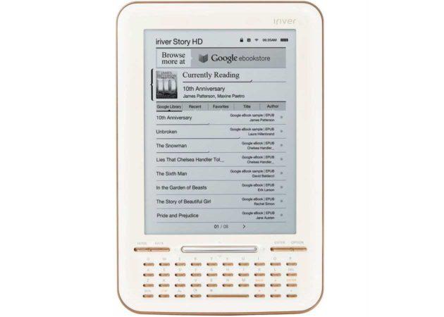 Google eBooks llega al mercado con el iRiver Story HD
