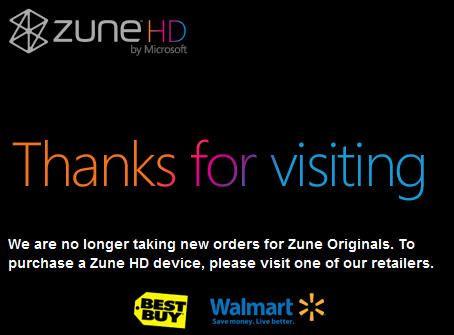 Adiós al Zune HD original, el final está próximo