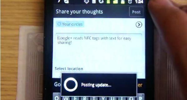 La aplicación Google+ para Android tiene soporte NFC