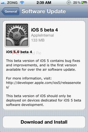 La primera actualización OTA llega a iPhone, iPod touch y iPad, iOS 5 beta 4