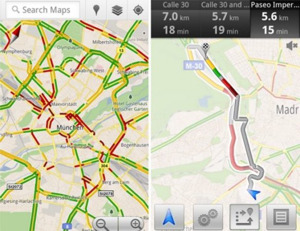 Google Maps en Android ya muestra el estado de tráfico en España