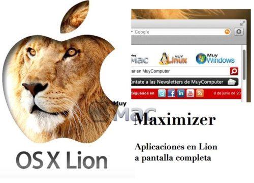 Activa el modo pantalla completa de Mac OS X Lion en todas las aplicaciones