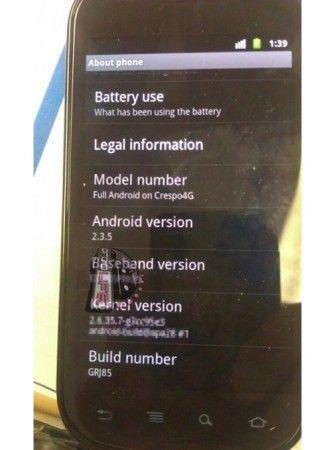 Nueva actualización Android 2.3.5 para el próximo lunes 31