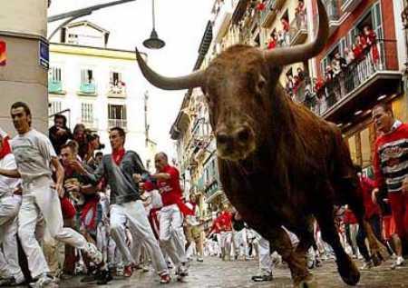 Sigue los encierros de San Fermín en vídeo, 14-7-2011