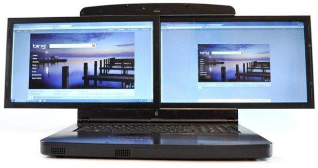Gscreen SpaceBook, portátil con un sistema de doble pantalla FullHD