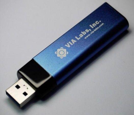 El futuro de los pendrives USB 3.0, chip VIA VL751, más de 120 Mbytes/s