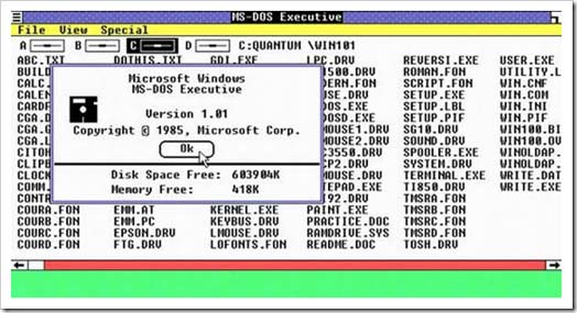 4380.Figure 1 MS DOS Executive thumb Así será el explorador de archivos de Windows 8
