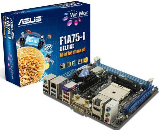 Placa ASUS F1A75-I, perfecta para explotar las APUs AMD