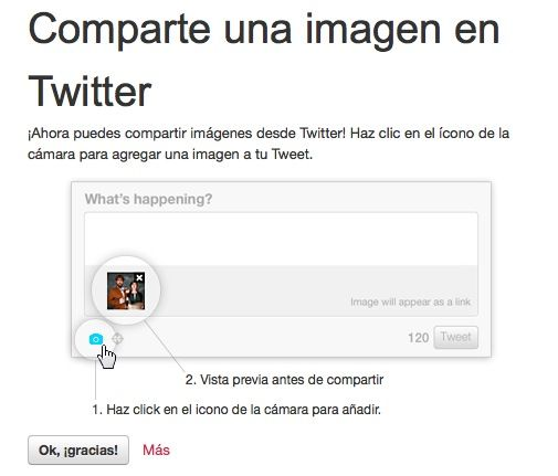 Compartir imagen twitter