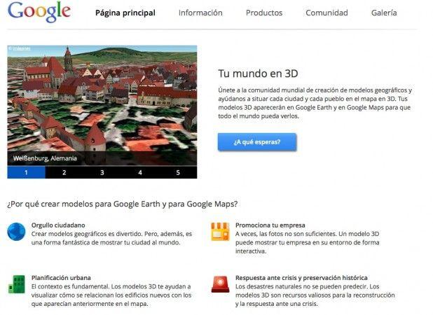 Google tu mundo en 3D