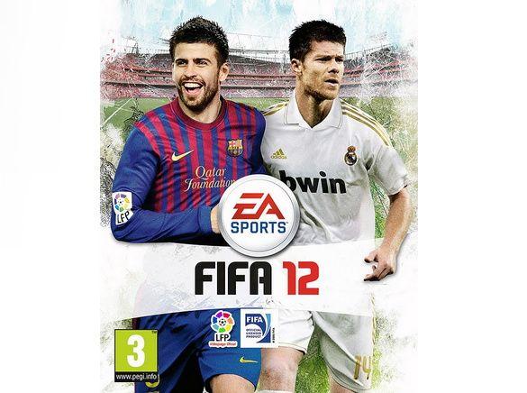Xavi Alonso y Piqué en la portada del FIFA 2012 29