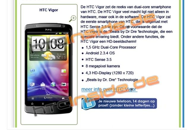 HTC Vigor, más superphones en camino