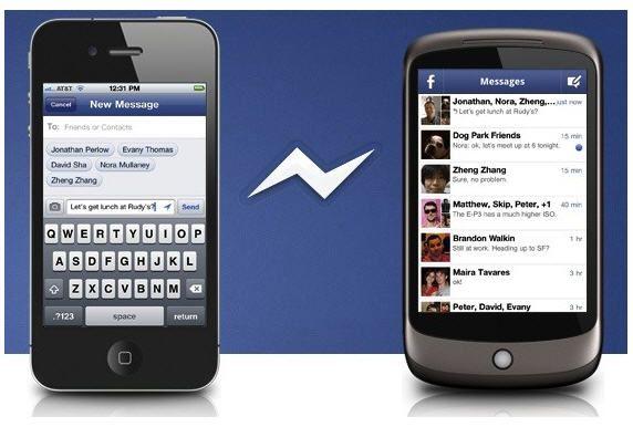 Facebook lanza su aplicación de mensajería para iOS y Android