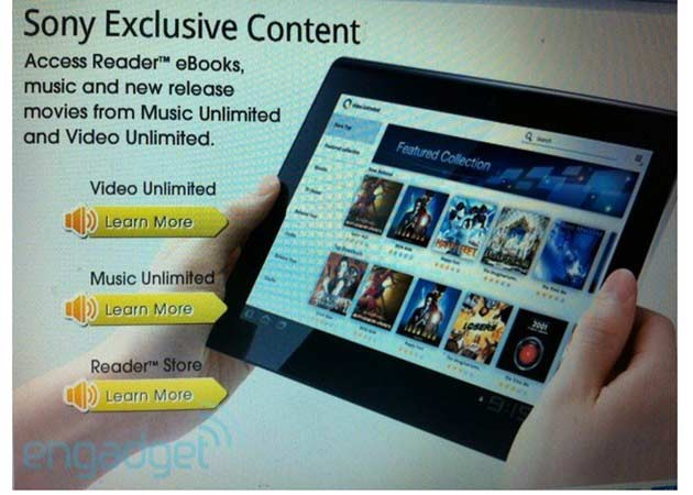 Sony tablet S en septiembre 29