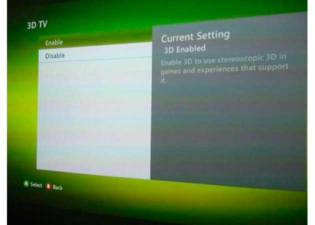 La Xbox 360 podrá reproducir contenidos en 3D
