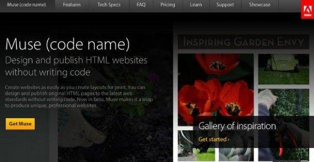 Adobe Muse, o cómo crear websites sin necesidad de teclear código alguno