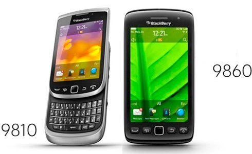 Llegan al mercado las nuevas BlackBerry Torch 9860 y 9810