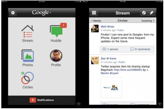 El cliente de Google+ para iOS ya soporta el iPad y el iPod touch