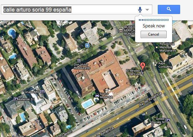 Las búsquedas por voz, también en Google Maps