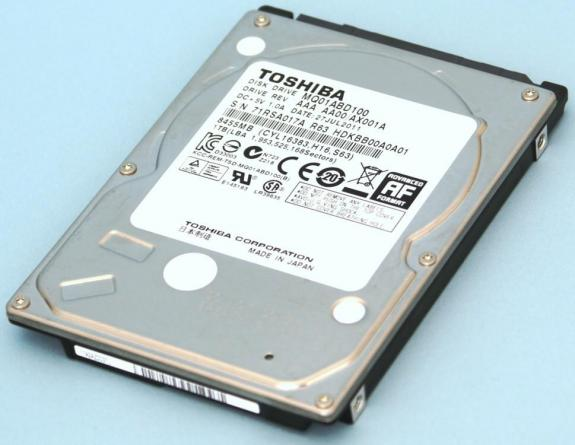 Discos duros Toshiba 9,5 mm con 1 TB