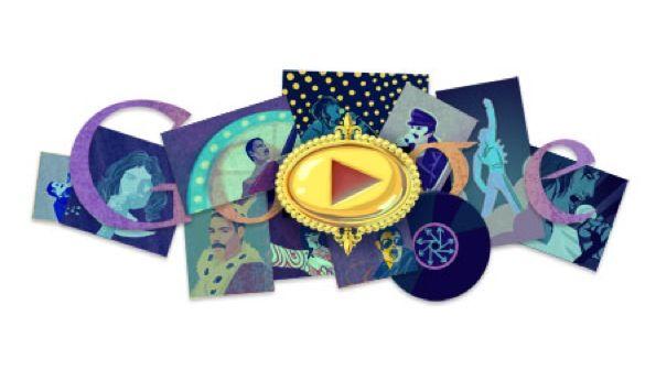 Google homenajea a Freddy Mercury con nuevo Doodle musical
